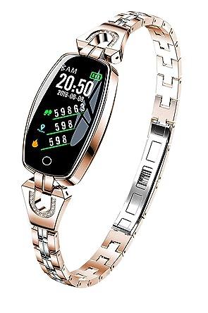Fitness Tracker, H8 Femme Smart Bracelet Fitness, Moniteur de fréquence Cardiaque, Bracelet d