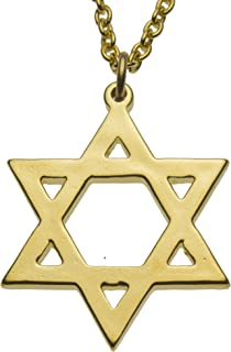 "product image for From War to Peace Star of David Gold-Dipped Pendant Necklace on 18"" Rolo Chain"