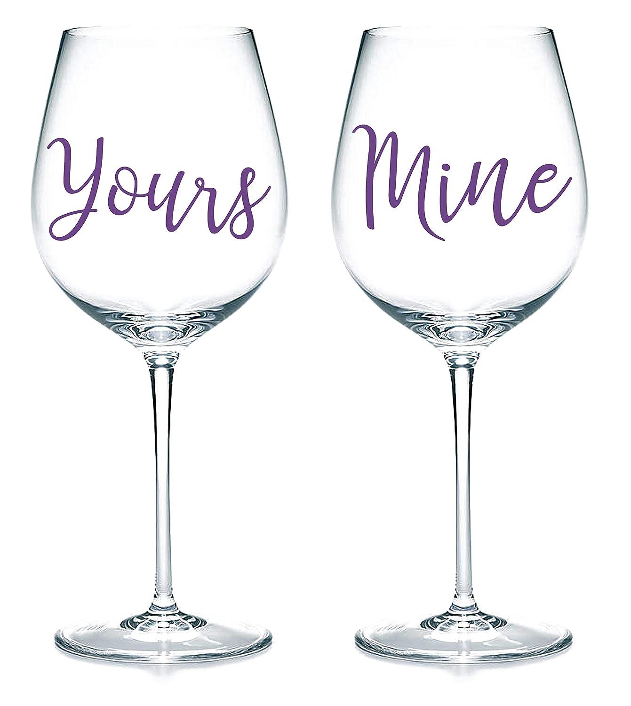 Personalised Custom Name Sticker Vinyl Decal Wine glass Wedding Birthday