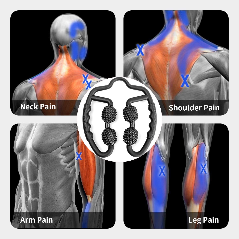 rodillo de espuma para automasaje de la musculatura profunda el tejido conectivo y las fascias alivia el dolor la columna vertebral y los pies color negro Good Times Rodillo de masaje
