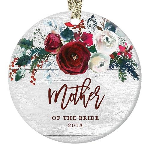 amazon com mother of the bride ornament wedding christmas ornament