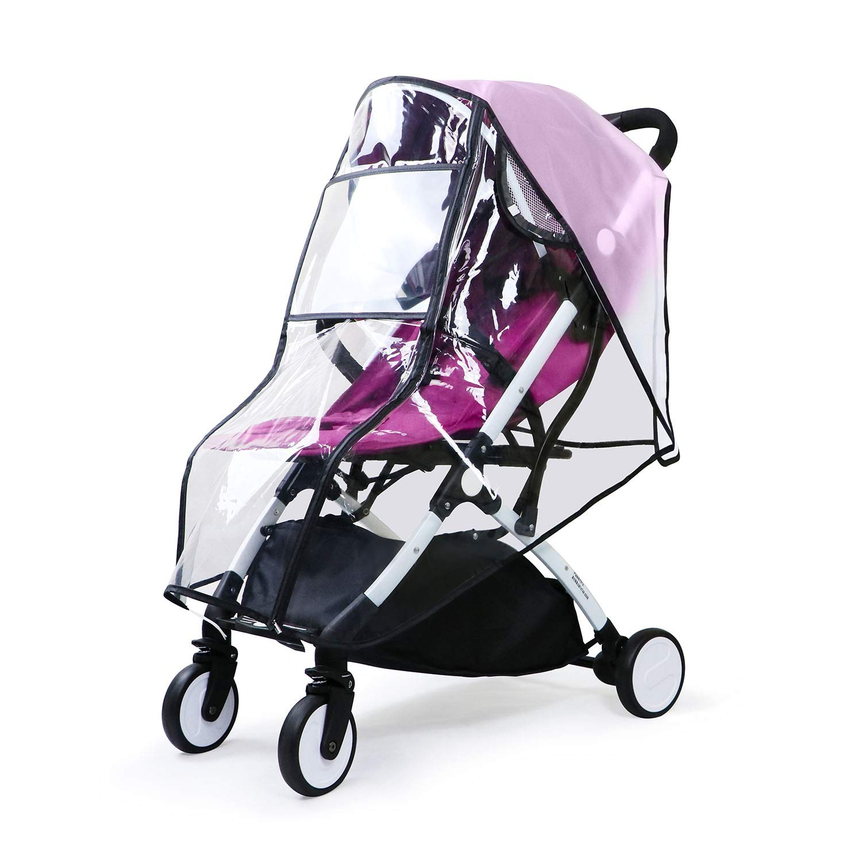 Universal Stroller Rain Cover, Baby Stroller Weather Shield, Waterproof Stroller Cover, Travel Umbrella Stroller Wind Dust Shield, Food Grade EVA, Eye Protect