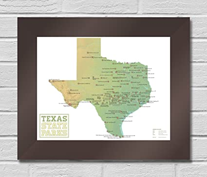 Complete Map Of Texas.Amazon Com Best Maps Ever Texas State Parks Map Premium Framed