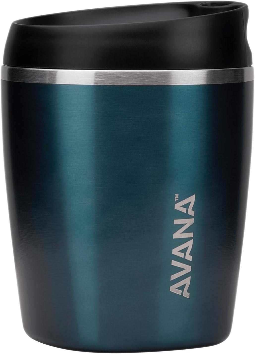 Avana Sedona Stainless Steel Double-Wall Insulated Thermal Tumbler, 10-Ounce, Deep Ocean