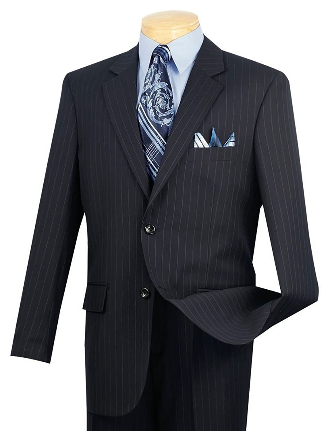 1940s Mens Suits | Gangster, Mobster, Zoot Suits VINCI Mens Pinstriped 2 Button Classic-Fit Suit New $99.95 AT vintagedancer.com
