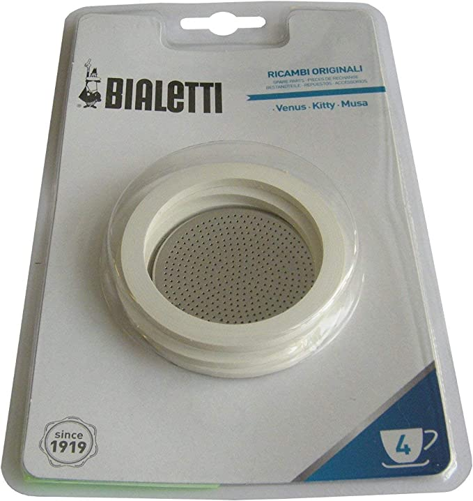Bialetti 0800401 Junta para cafetera Italiana Goma Blanco/Acero ...