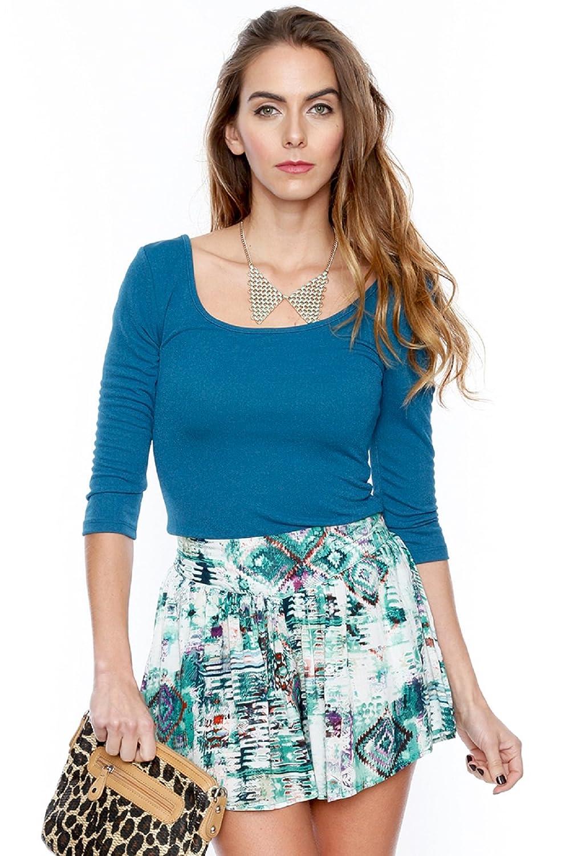 Women's Distressed Emerald Shorts