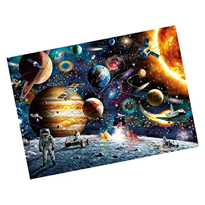 Puzzles for Adults, Oillian 1000 Piece Puzzle for Adults Kids Gift - Planets in Space Jigsaw Puzzle: Toys & Games