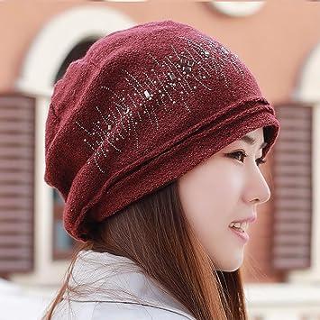 Otoño e invierno nuevo gorro de cabeza sombrero de punto de ...