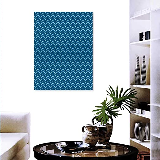 Anyangeight Bleu Marine Moderne Sur Toile Peinture Murale