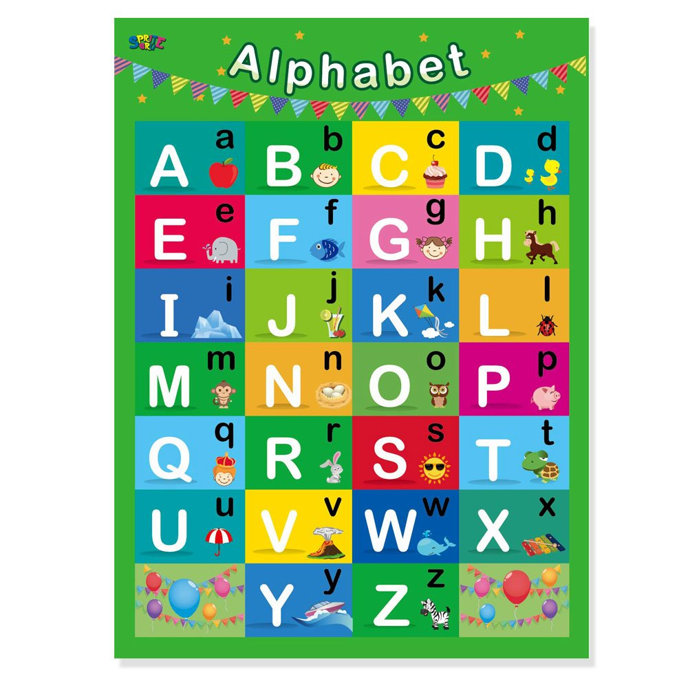 8 Laminated Educational Posters for Toddlers,17\