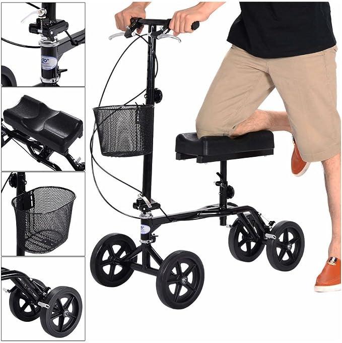 Amazon.com: Nueva orientable plegable – Andador de rodilla ...
