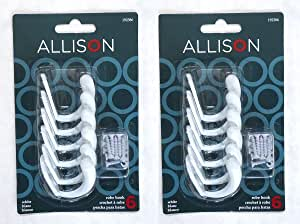 Robe or Coat Hook White (12 Pack)