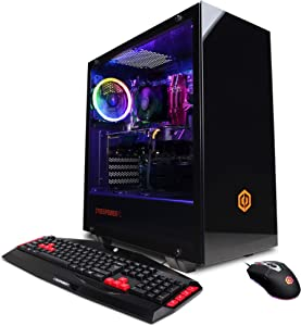 CyberpowerPC Gamer Master Gaming PC, AMD Ryzen 9 3900X 3.8GHz, AMD Radeon RX 5700 XT 8GB, 16GB DDR4, 1TB PCI-E NVMe SSD, WiFi Ready & Win 10 Home (GMA1398A, Black)