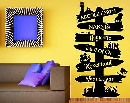 Amazon.com: Wall Decal Vinyl Sticker Storybook Signpost Fandom Harry ...