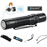Bundle: olight m2r tactical flashlight cree led 1500 lumen most powerful pocket friendly hunting light power by 10a hdc 3500mAh 18650 battery with usb magnetic cable and olight patch