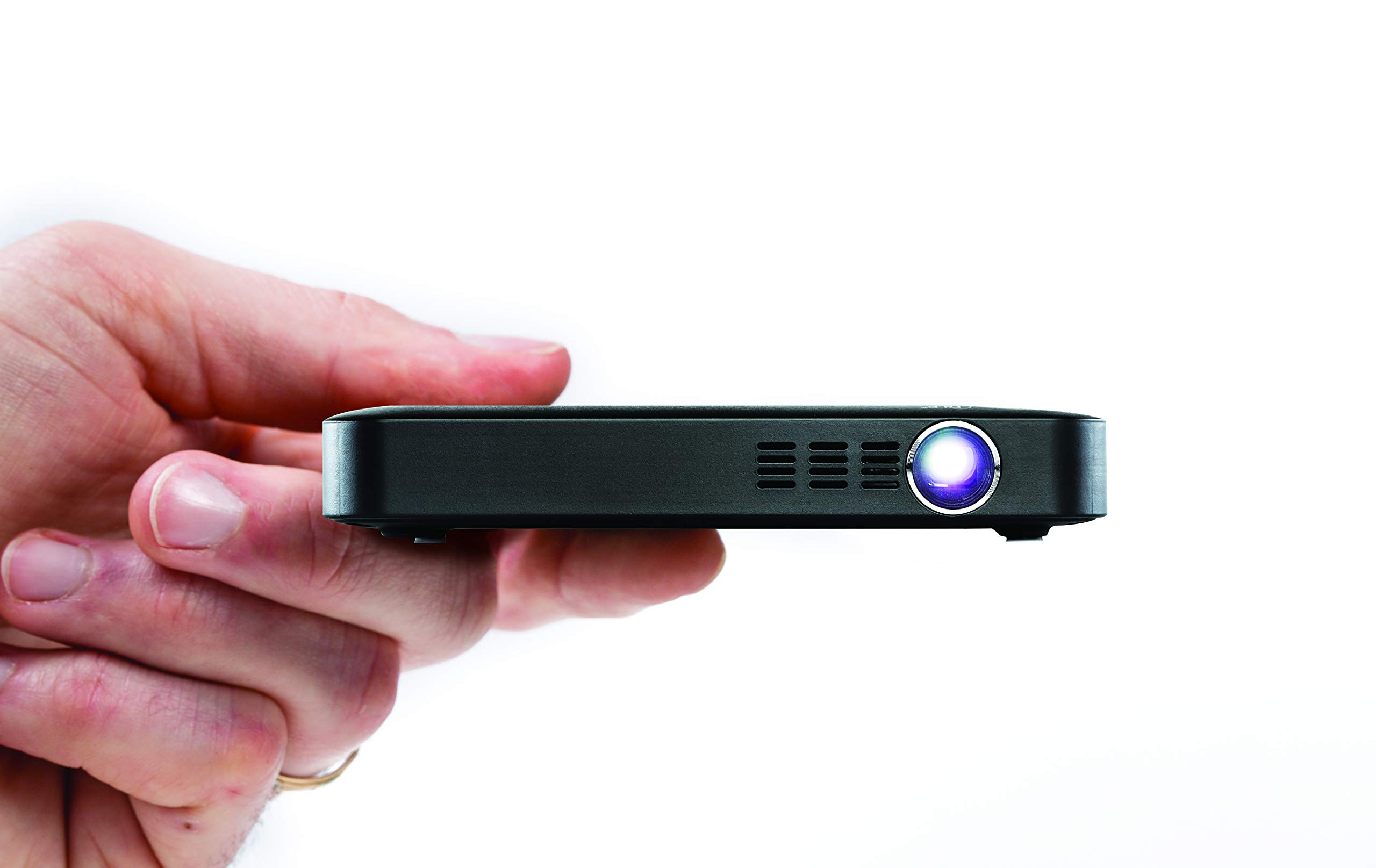 Miroir Micro Projector M55 (Renewed), Element Series, LED Lamp, Built-in Rechargeable Battery