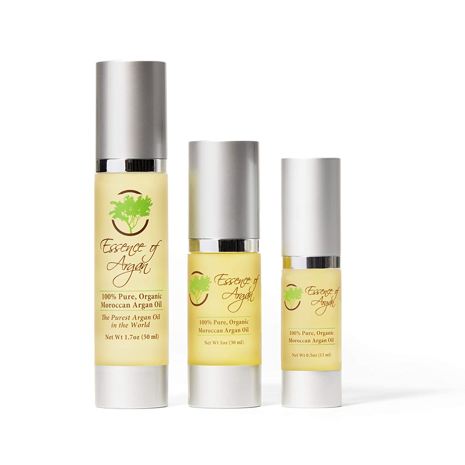 50ml 1.70z Eco Certified Organic Argan Oil for Skin and Hair by Essence of Argan