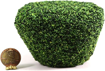 Dollhouse Miniature Set of 3 Small Round Bushes by Model Builders Supply