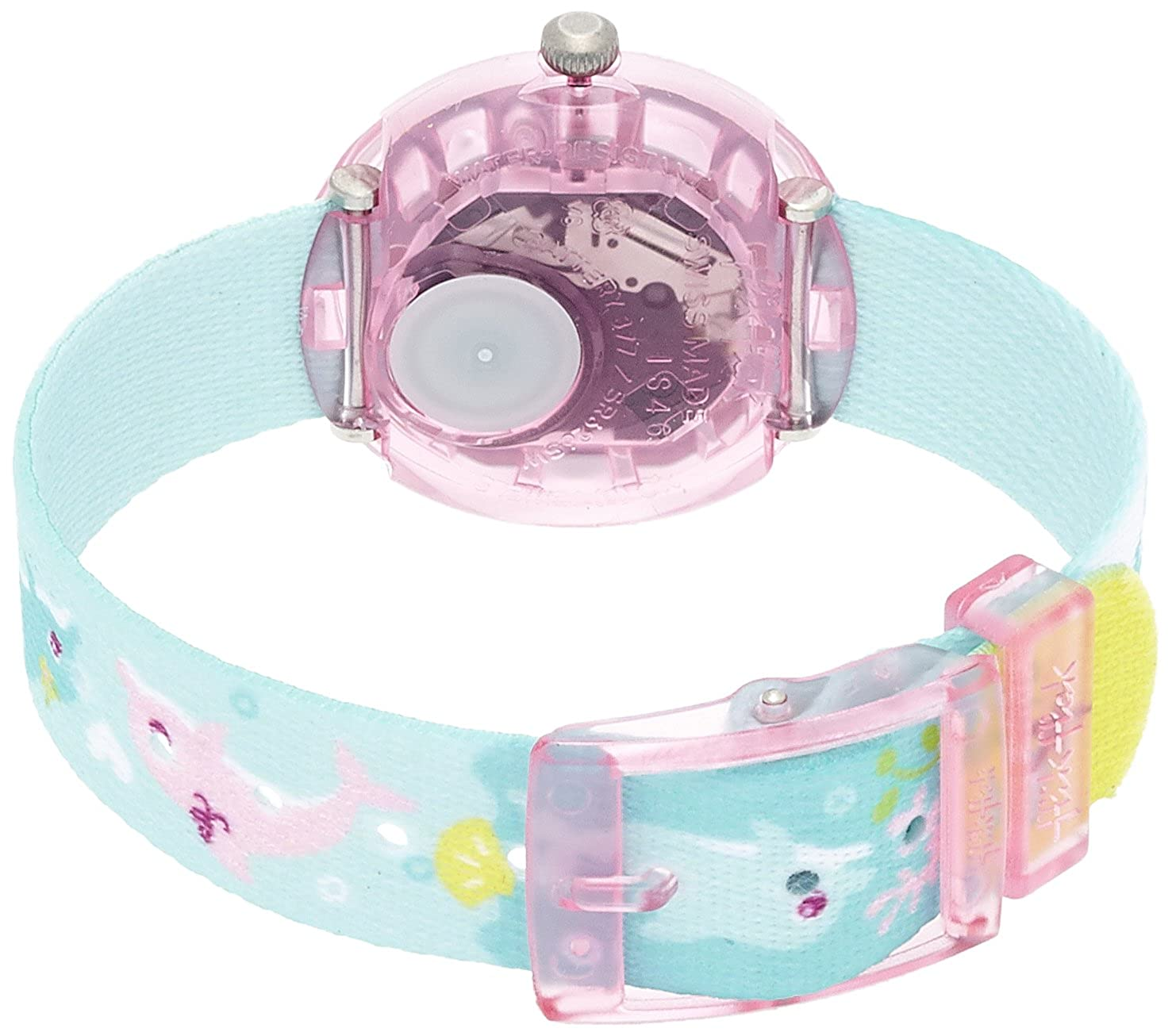Amazon.com: Flik Flak FBNP035 Girls Splashy Dolphins Multicolour Watch: Watches