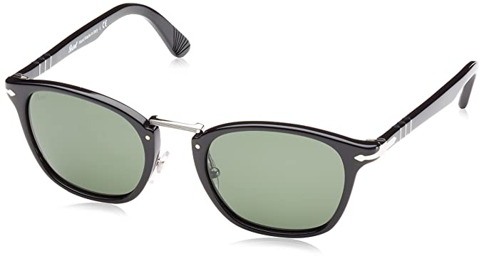 547c4424b0 Image Unavailable. Image not available for. Color  Persol PO3110S 95 31  Black PO3110S Square Sunglasses ...