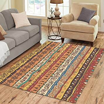 InterestPrint Home Decoration Unique African Tribe Area Rug 7 X 5 Ethnic Africa