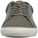 Lacoste Men's Lerond Sneaker, Khaki tan Canvas, 7.5 Medium US