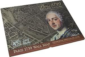 Authentic Models 1739 Paris Map Portfolio