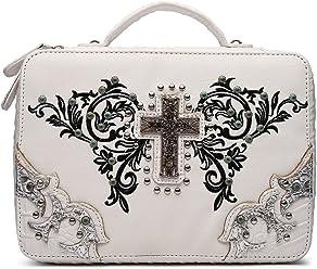 Western Style Amazing Grace Bible Cover Books Case Cross Purse 744614844de14