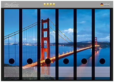 Archivadores diseño de puente Golden Gate de San Francisco, Estados Unidos en tamaño 36 x
