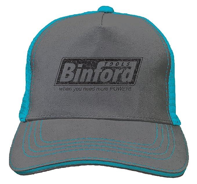 f3061678 Tcombo Binford Tools Twill Soft Mesh Trucker Hat (Charcoal/Aqua Blue)