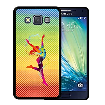 WoowCase Funda para Samsung Galaxy A5 2015, [Samsung Galaxy A5 2015 ] Silicona Gel Flexible Chica Bailando con Manchas de Color Fondo, Carcasa Case ...