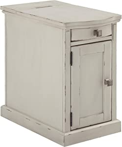 Ashley Furniture Signature Design - Laforn Chairside End Table - White
