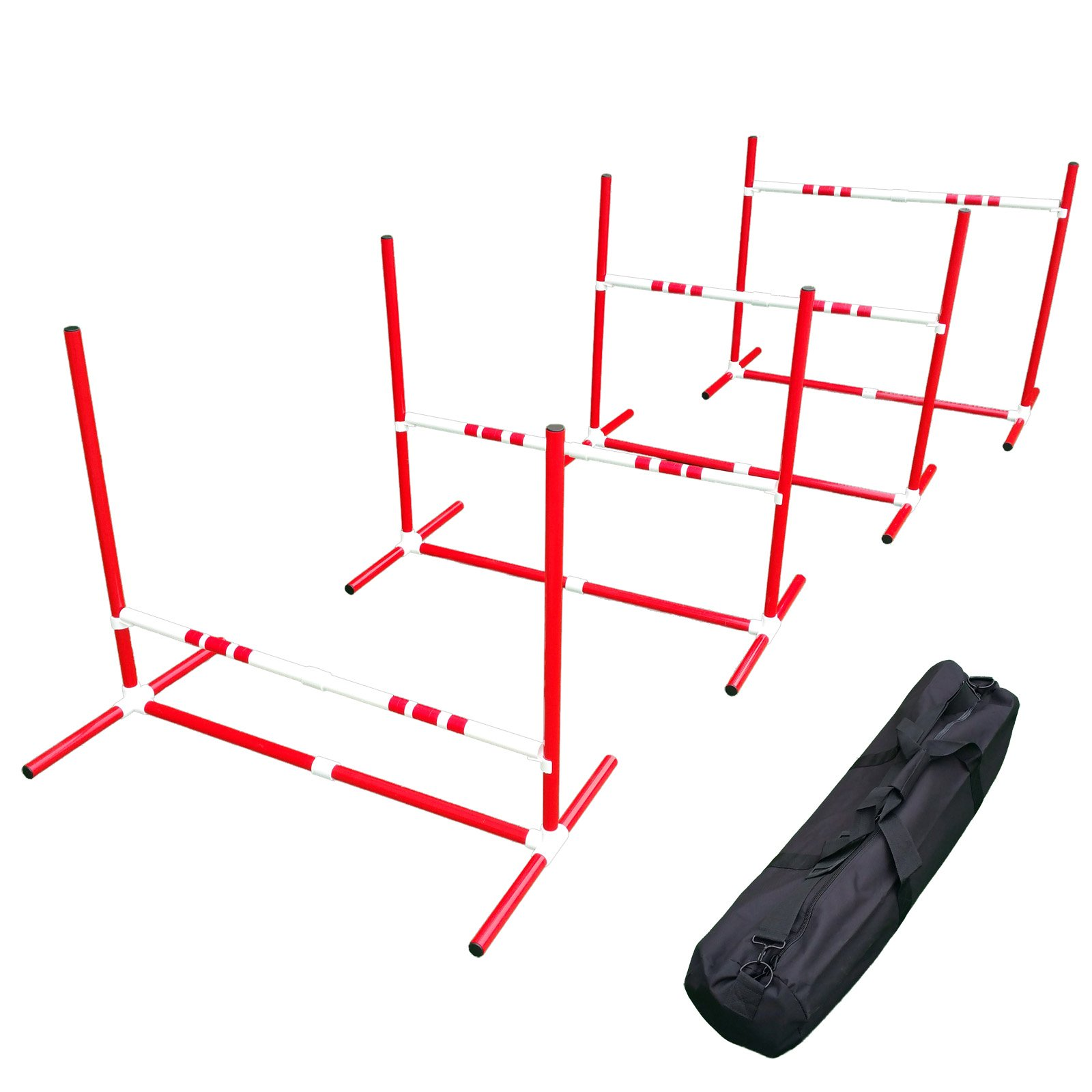 Affordable Agility Red Travel Jump Set by Affordable Agility