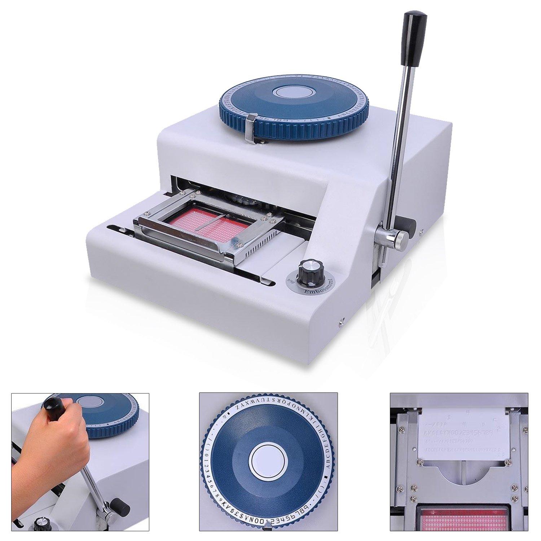 Koval Inc. PVC Plastic Card Manual Embosser Embossing Machine (Silver)