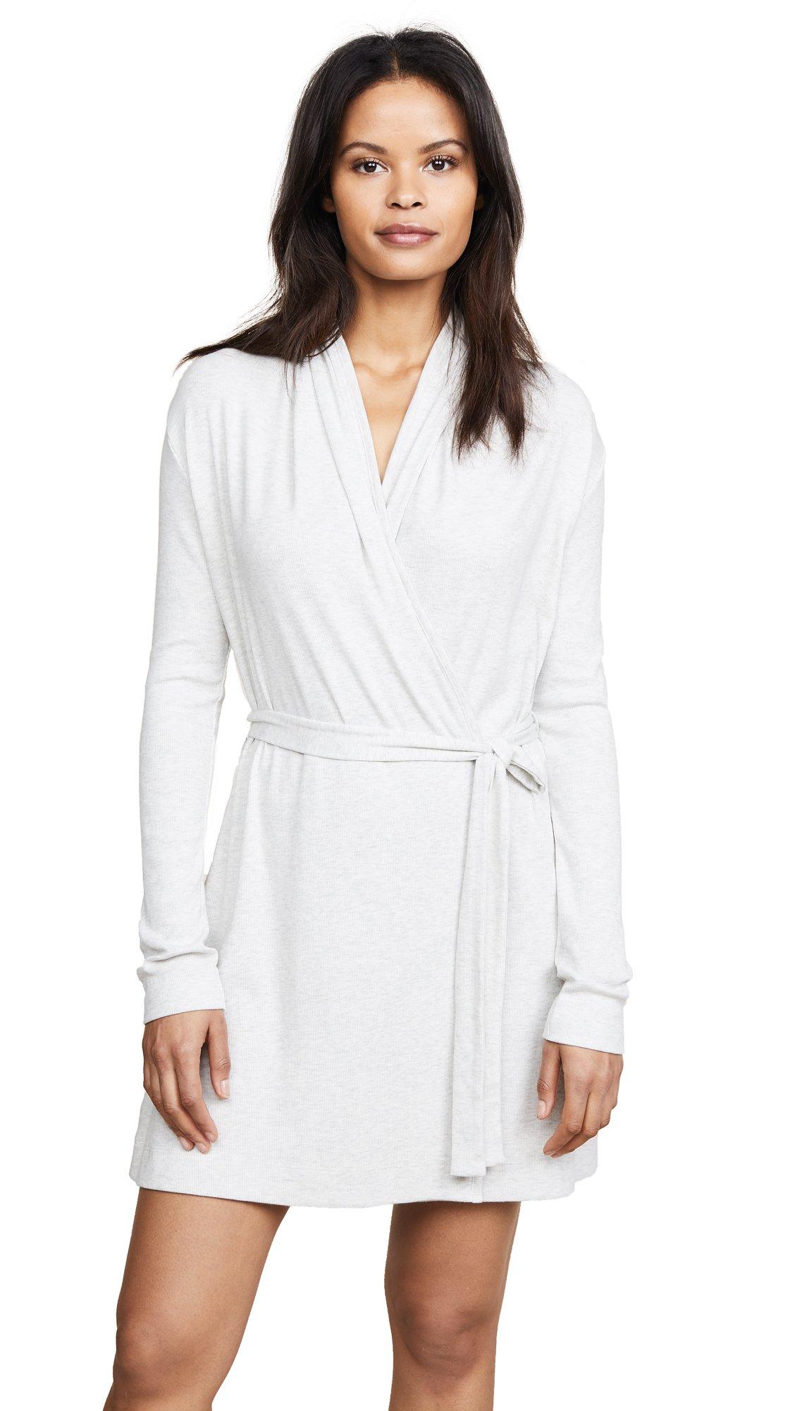 Skin Women's Wrap Robe, Heather Grey, 2