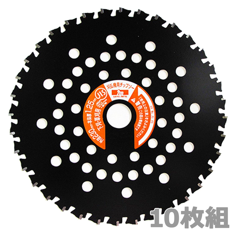 山善(YAMAZEN) とにかく石に強い チップソー 10枚入り (内径25.4mm) 230×36P ブラック 外径230mm×刃数36P B07DFTKF97
