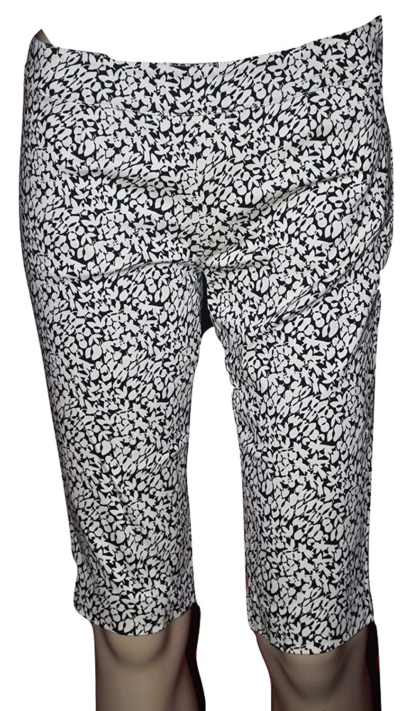 Dolce & Gabbana Women's Bone & Black Cotton Stretch Capris (PB111)