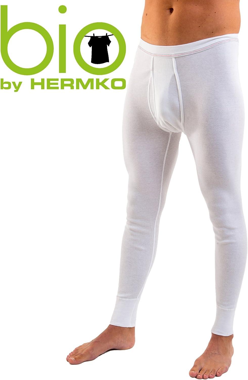 HERMKO 3542 Confezione da 2 Mutande Lunghe Uomo Doppia Cucitura Cotone bio