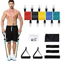 Niceao 12-Piece Resistance Bands for Stretch Training/Physical Therapy (Up to 100 LBS)