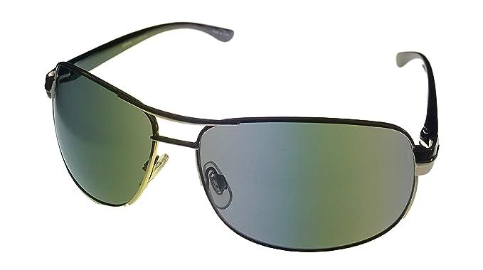 Amazon.com: Levi anteojos de sol Mens Plata Rectángulo ...