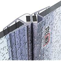 STEIGNER UKM04   Joint d'étanchéité DOUCHE magnétique pour verre d'épaisseur 6mm / 7mm / 8mm UPS - 201cm, SET 180 DEGRÉ