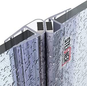 STEIGNER Juego de Juntas Magnéticas para la Puerta de Cabina de Ducha UKM04, 6/7/8 mm - 180 grados, 2 piezas, 201 cm: Amazon.es: Bricolaje y herramientas