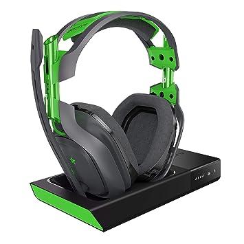 ASTRO Gaming A50 - Auriculares con micrófono inalámbricos + estación base con sonido envolvente Dolby 7.1, compatibles con Xbox One, PC, Mac, gris/verde: ...