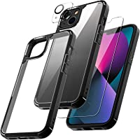 TAURI [3 in 1] Defender Designed for iPhone 13 Case 6.1 Inch, with 2 Pack Tempered Glass Screen Protector + 2 Pack…