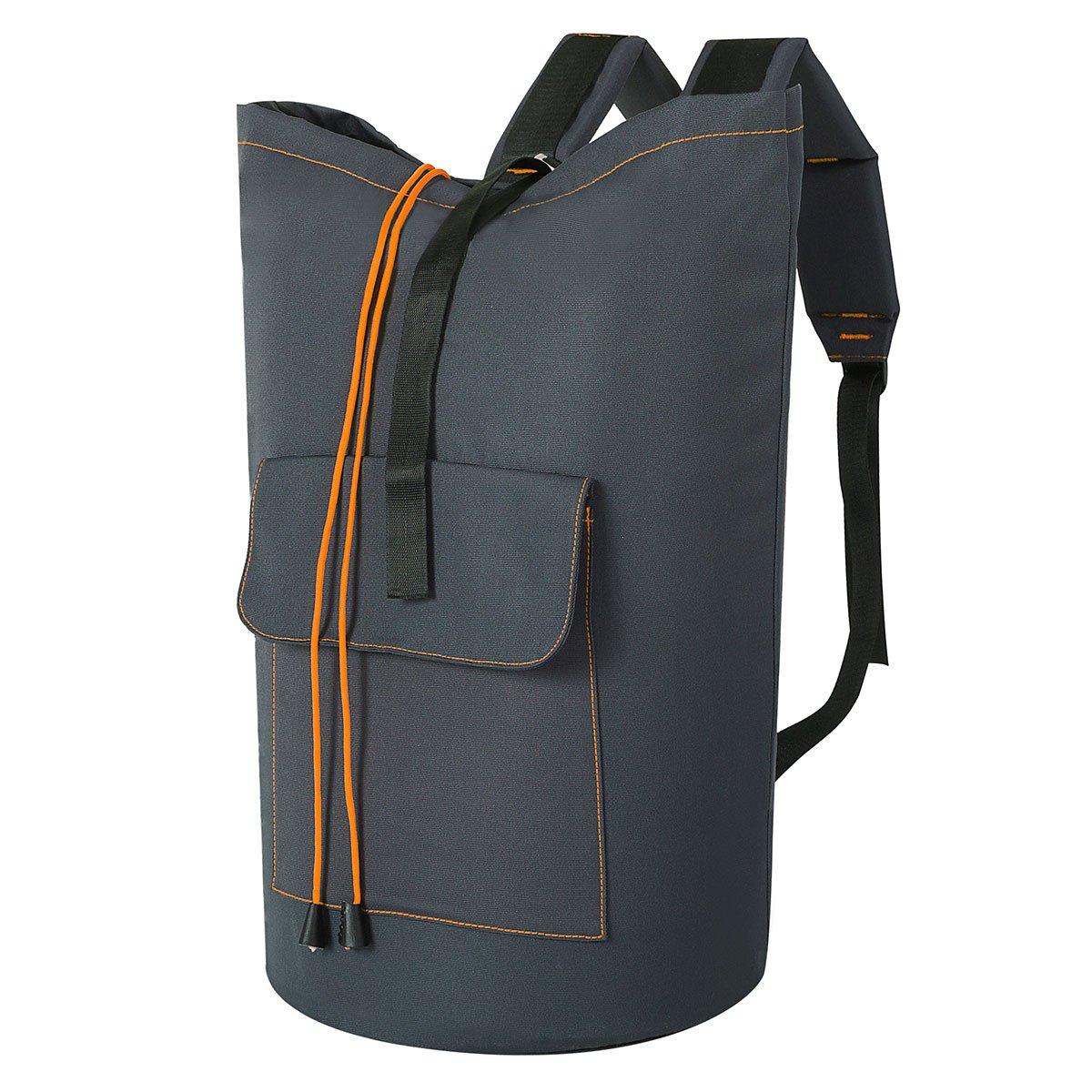 ZERO JET LAG Large Laundry Bag Laundry Hamper Travel Laundry Bag Hanging Waterproof Mesh Cover Durable Storage Bag Collage Dorm Sports (Dark Grey)