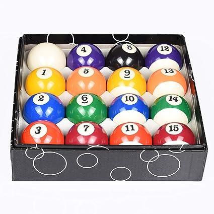 Pool Table Billiard Balls Set 2 1//4/' Standard Size Sport Pool 16 Balls Set