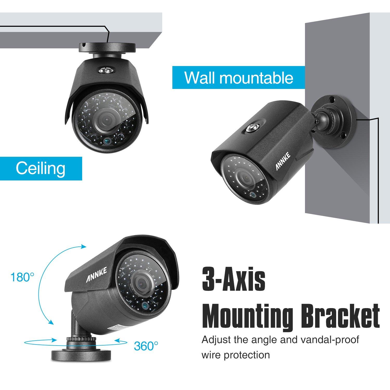 ANNKE Kit Sistema de vigilancia 24CH DVR 1080N+ 24 Cámaras de vigilancia Metal 720P CCTV IR-Cut Visión Nocturna Plug and Play Android/iOS App-Incluido 4TB ...