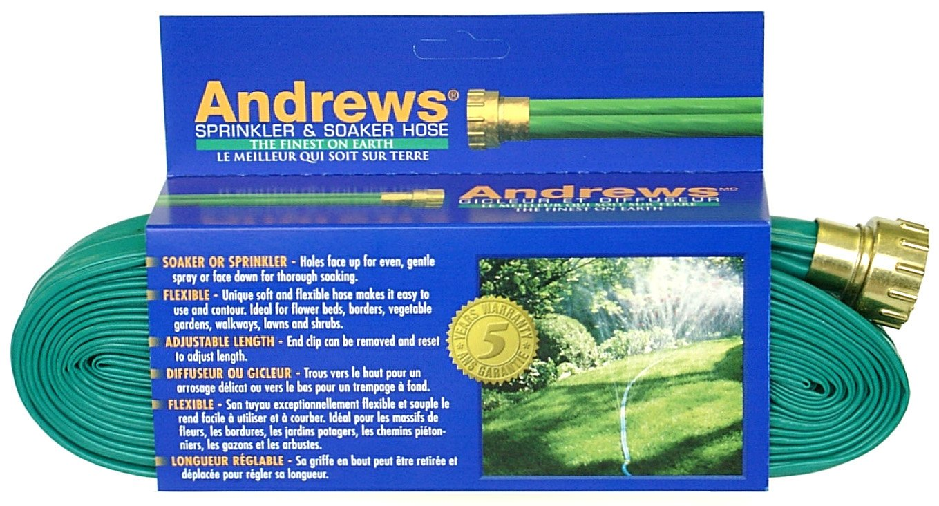Andrews 100-Foot 2 Tube Sprinkler Hose 10-12349