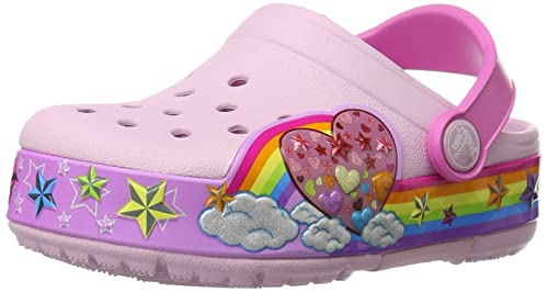a57b0965640c Crocs Kids Rainbow Heart Lights Clog